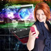 подключение technology.internet — Стоковое фото