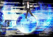 инновационные компьютерные информационные системы безопасности — Стоковое фото