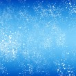 Abstract blue background with white snow flying.Winter background — Stock Photo