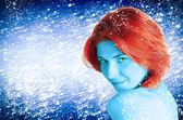 Güzel kış bayan — Stok fotoğraf