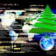 Stock Photo: Globalization Internet technology in Christmas