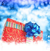 New Year Gift boxes.Merry Christmas — Stockfoto