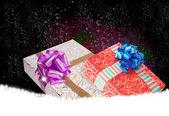 Boxes.surprise in nieuwe jaar vakantie geschenken — Stockfoto