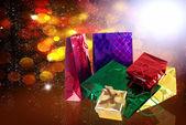 Tarjeta de day.holiday de boxes.valentines de regalos — Foto de Stock
