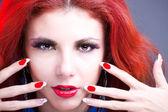 Schönes porträt fashion glamour girl.beauty — Stockfoto