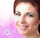 Beauty Face Girl.Hygiene Skin Body. Youth and Skin Care — Stock Photo