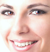 Closeup shot of woman eye with day makeup.Beauty Face — Stock Photo