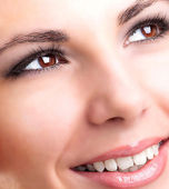 Beautiful Smiling Face Young Girl.Healthy Teeth.Stomatology — Stock Photo