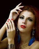 Beautiful Young Girl.Fashion Portrait Woman — Stockfoto