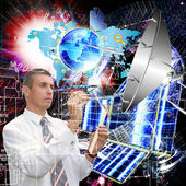 Scientific Cosmic engineering Research.Science — Stock Photo