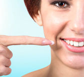 Fresh and Healthy Smile White Teeth.Dental — Stock Photo