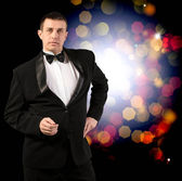 Men in a Classical Tuxedo — Stock Photo