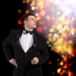 Elegant Adult Fashion Glamour Man in Tuxedo — Stock Photo