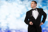 Elegant Adult Fashion Glamour Man in Tuxedo — Стоковое фото