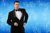 Elegant Adult Fashion Glamour Man in Tuxedo — Stock Photo
