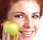 Girl with White Smile healthy Teeth — Stock Photo