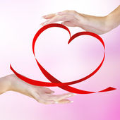 Valentijn horen — Stockfoto
