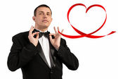 Man in Tuxedo.Love Concept.Valentine Day — Stock Photo