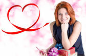 Dag van de valentijnskaart — Stockfoto