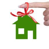 Green Happy Home — Stock Photo