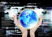 Globalization Communication Internet Technology — Stock Photo