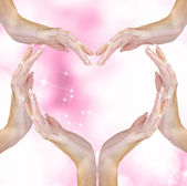 Heart of Woman Hands.Love Concept.Valentine Day — Stock Photo