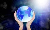 Wetenschap concept.internet verbinding — Stockfoto