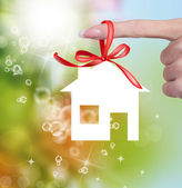Nový koncept home.gift.happiness — Stock fotografie