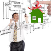 Engineering Design New Home for Family — Foto de Stock