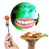 Diet and Nutrition.Vegetarian — Stock Photo