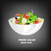 Fresh Vegetable Salad.Healthy Food.Vector — Stock Vector