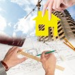 Engineering Technical Industrial Designing for new Home — Stock Photo