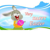 Happy Rabbit and Easter Egg.Holiday Happy Easter.Vector — Vecteur