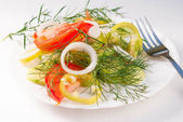 Fresh vegetables salad.Vegetarian food — Stock Photo