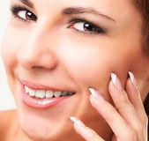Beauty Portrait.Clean Skin Face — Stock Photo