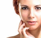 Beauty Portrait Woman.Clean Skin Face — Stock Photo