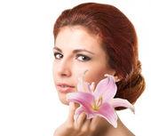 Beauty Girl Portrait. Beautiful Spa Woman.Skincare Face — Stock Photo