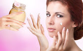 Natural Flowers Balsam for Care Skin Face.Spa — Stock Photo