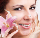 Natural Cream for Care Skin Face.Spa — Stock Photo