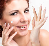 Natural Cream for Care Skin Face Woman.Spa — Stock Photo