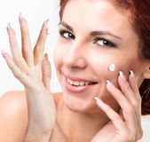 Natural Cream for Care Skin Face — Stock Photo