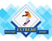 Snowboarding.Adventure Winter Sport.Extreme Skiing.Vector — Stock Vector