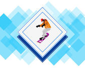 Snowboarding.Adventure Winter Sport.Extreme Skiing. — Stock Photo
