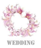 Wedding.love çiçek kalp — Stok fotoğraf