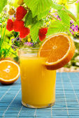 Fresh Juice Orange.Fruit Beverage — Stock Photo