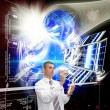 Designing of engineering space technologies — Stock Photo #7906330