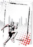 Affiche de l'athlétisme — Vecteur