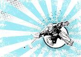 Ice hockey retro poster background — Stock Vector