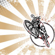 Biker retro poster background - Imagen vectorial