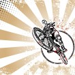 Biker retro poster background - Image vectorielle